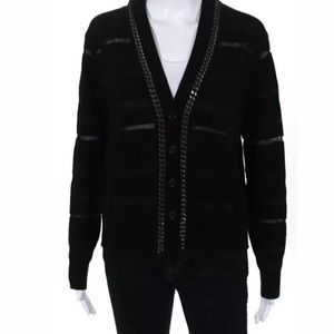 **AVAILABLE** Sonia black wool cardigan size large